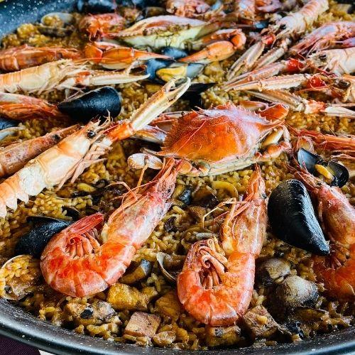 receta paella de marisco