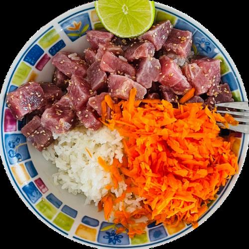 cómo hacer un poke de atún rojo